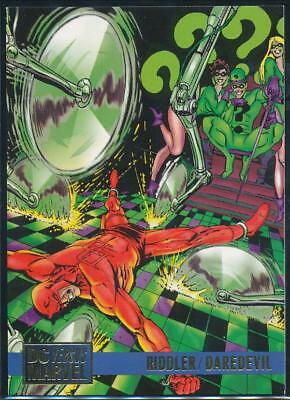 1995 DC Versus Marvel Trading Card #72 Riddler vs .Daredevil