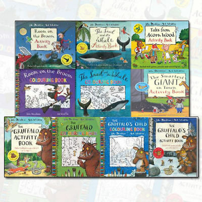 The Gruffalo Activity & Colouring 10 Book Collection Pack by Julia Donaldson