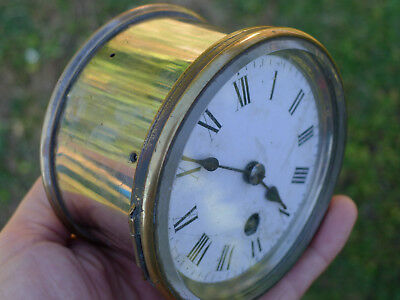 French Antique 8day mantel carriage clock INSERTION cylinder platform escapement
