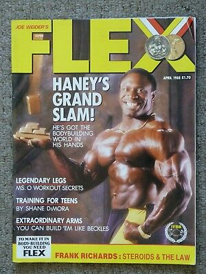 Flex Magazine April 1988 Lee Haney Vintage Bodybuilding Rare