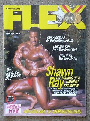 Flex Magazine March 1988 Shawn Ray Vintage Bodybuilding Rare