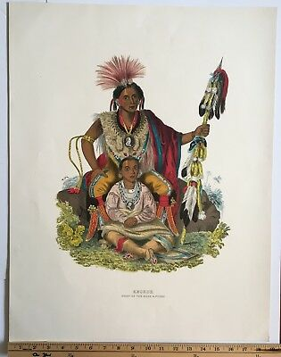 American Indian Chieftan Lithgraph