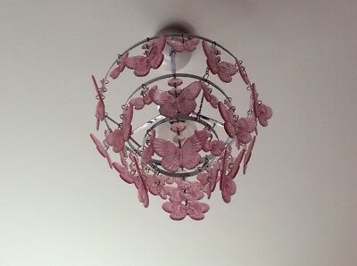 Next pink butterfly chandelier lamp shade 799 picclick uk next pink butterfly chandelier lamp shade aloadofball Choice Image