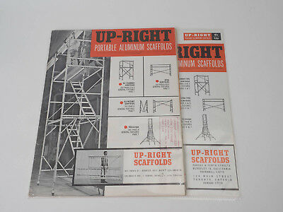 UpRight Scaffolding 60s Vintage Sales Literature w/ Price Sheets Tallescope VX