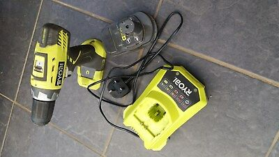 Ryobi one + 18 volt cordless drill with one battery and charger