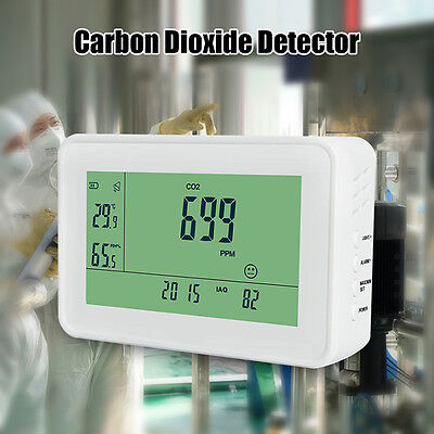 YEH-40 LCD Carbon Dioxide Detector CO2 Monitor Temperature Meter For Classroom