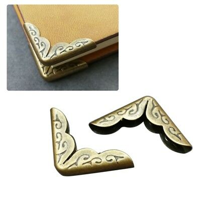 16PCS Vintage Bronze Note Book File Folder Albums Corner Protectors Scrapbooking