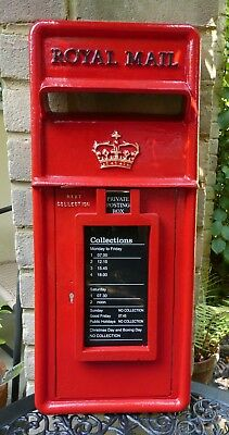 Royal Mail. Genuine. Cast Iron. Post Box Front. Scottish Crown. Machan . Red.