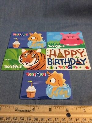 Lot Of 5 Empty Unused Toys R Us Babies R Us Gift Cards Happy