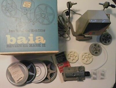 Baia Reviewer Mark II 8MM Super 8 Movie Editor Viewer