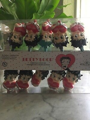 Betty Boop Christmas Light Set String 10 New In Box