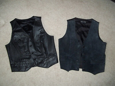 Womens Leather and Suede Vests Women's Size Small  lot of 2