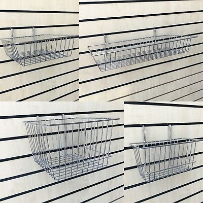 Slatwall Basket Retail Shop Heavy Duty Display Storage Shelving Basket/ Baskets