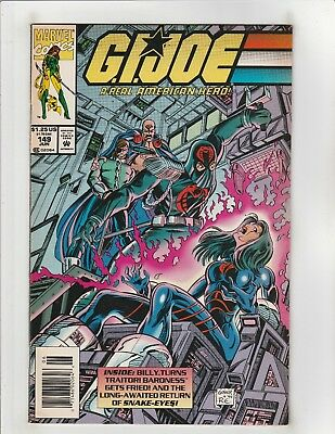 G.I. Joe A Real American Hero #149 VF 8.0 Newsstand Marvel Comics Snake-Eyes