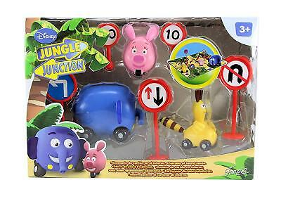 DISNEY JUNGLE Junction Wheel Around Fun Playset With Zooter Ellyvan & Bungo