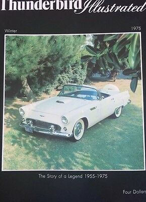 Ford Thunderbird Illustrated 1975 Rare First  Edition Set Of 3 Limited Editions