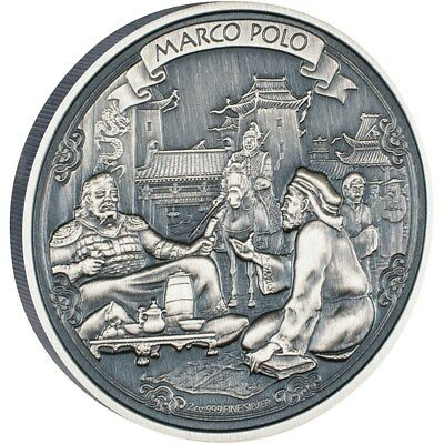 Niue 5 Dollar 2015 -Marco Polo- Journeys of Discovery 2 Oz Silber  !NEU!