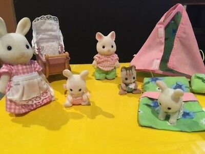 Calico Critter Sets - Camping Set with Rabbits/Cat