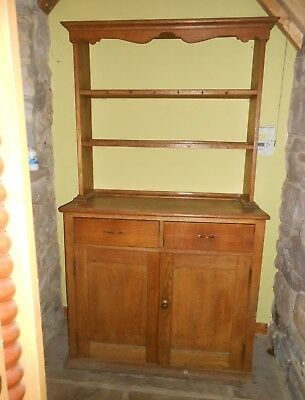 Lovely Small Antique Oak Welsh Dresser - Very Shabby Chic