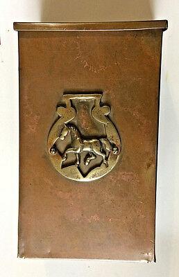Antique Brass Equestrian Mailbox Made in England