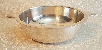 Large RARE Art Deco Christofle silverplated SS L'Antlantique Ocean liner bowl.