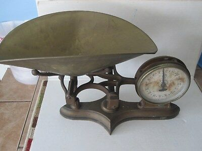 antique two sided counter scale
