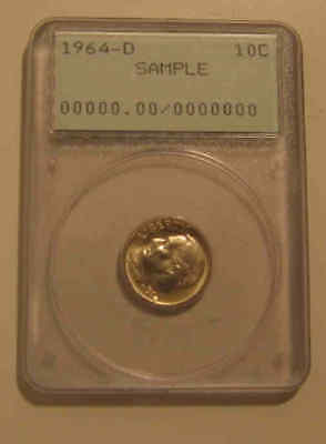 Early generation one vintage PCGS sample silver dime