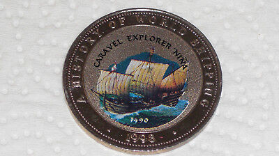 Somalia 25 Shillings 1998 Shipp Caravel Explorer NINA History of World Shipping