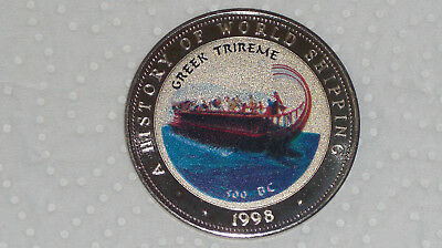 Somalia 25 Shillings 1998 Ships Greek Trireme History of World Shipping