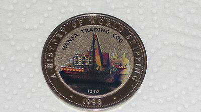 Somalia 25 Shillings 1998 Ships Hansa Trading COG History of World Shipping TOP