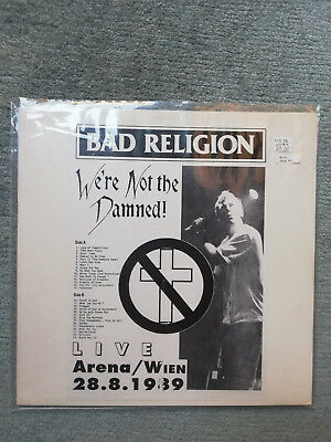 "Bad Religion ""We're not the Damned"" Live LP Wien 1989 First Press Limit 500 Stk."