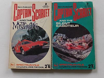 2 Captain Scarlet paperbacks: CS and the Silent Saboteur & CS and the Mysterons