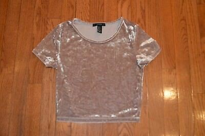 0d8a2ef3738 WOMENS FOREVER 21 Brown Crushed Velvet Crop Top Size S - $8.99 ...