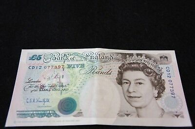 Bank of England 5 Pound Note in Extremely Fine Condition Nice Note!