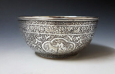 Beautiful Antique Middle Eastern Persian Islamic Solid Silver Bowl By Jafar 193g