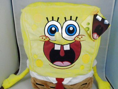 "NWT 2013 Nickelodeon 22"" SpongeBob SquarePants Plush Open Mouth Pillow"