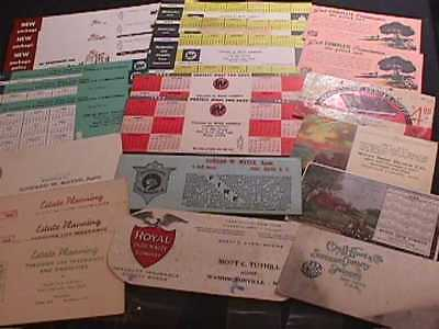 24 Advertising Ink Blotters From 1940-1950's Insurance Co., Wi Buick Co., Kansas
