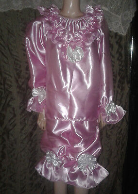 Adult Sissy Baby Doll Style Dress Up Ruffled Blouse & Long Bloomer Panties Satin