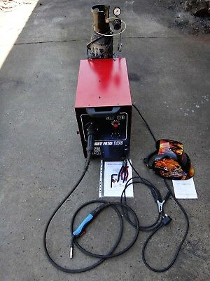 CEBORA 180 CRAFT MIG WELDER WITH GAS WIRE + NEW MASK some SPARES INSTRUCTIONS