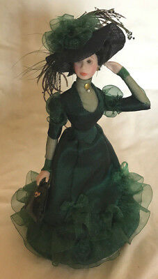 Stylish OOAK Miniature Lady Doll, Dressed in Green, Elegant