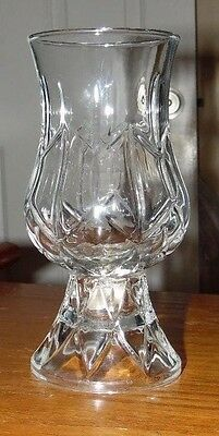 Vintage Home Interiors 2 PC. Candle Holder Clear Glass EUC