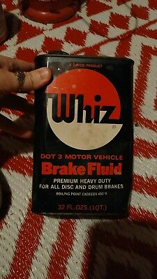 Vintage Whiz Can empty 32oz Hollingshead Camden NJ brake fluid
