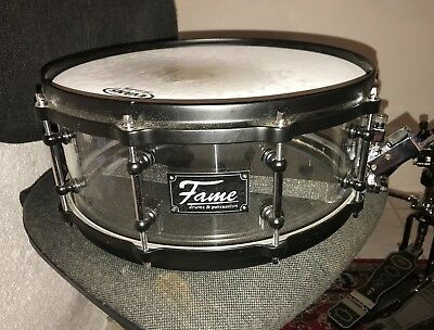 """Fame Acryl Snare 14""""x5,5""""  Clear"""