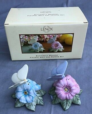 LENOX Butterfly Meadow Figural SALT and PEPPER Set