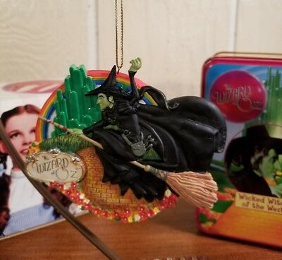 Over The Rainbow WICKED Witch Wizard Of Oz San Francisco Music Box Ornament NIB