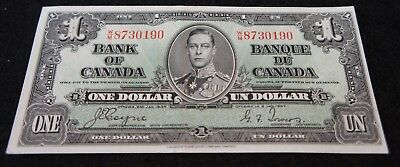 1937 Bank of Canada 1 Dollar Note in UNC Extremely NICE OLD Collectible Note!