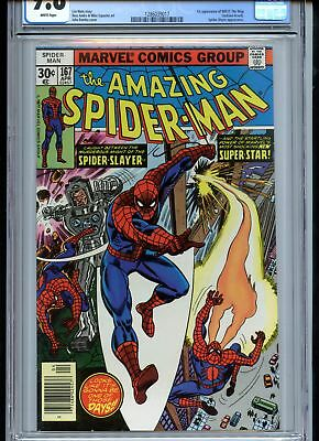 Amazing Spider-Man #167 CGC 9.8 White Pages 1st Will o Wisp