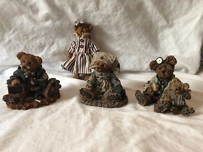 Boyds Bears & Friends Lot Of 4 Ceramic Figurines