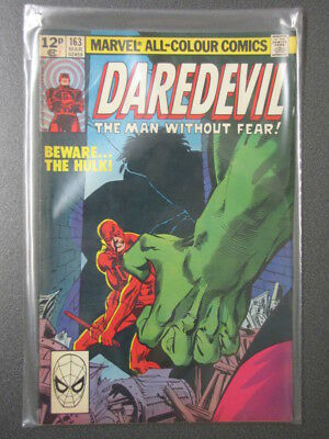 Vintage MARVEL Comics JAN 1980 DAREDEVIL #163, Bronze Age, Superhero