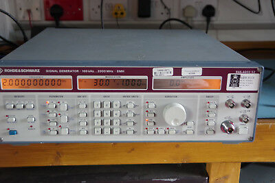 R&S Rohde & Schwarz SMH Signal Generator 100KHz to 2GHz with options